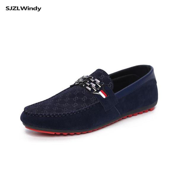 Spor gündelik erkek İngiliz nefes tembel bere ayakkabı ilkbahar ve sonbahar İtalyan kapalı eğilim yumuşak alt erkek ayakkabıları sürüş