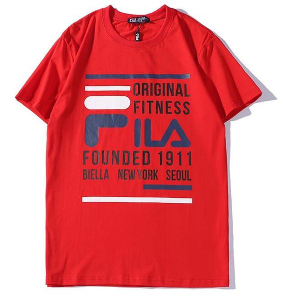 2019 2019 New Men Red 1911 T Shirt MODE Logo F FIL Letter Printed T Shirt Short Sleeve Women Hip Hop Street Outdoor Wear Kanye West Tops Tee From