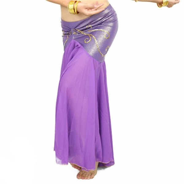 2019 New Belly Dancing Skirt Professional Long Fish Tail Skirts 9 Color Side Split Women Wrapped Belly Dance Mermaid Skirt