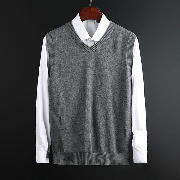 New Fashion Man camisola capuz Vest Slim Fit Jumpers Knitwear mangas Pescoço V Inverno Estilo Men coreana Roupa descontraída