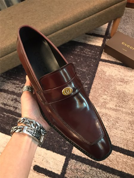 fashion Mens brogue shoes wedding Business dress Nightclubs oxfords Breathable Working dress shoes with box good quality