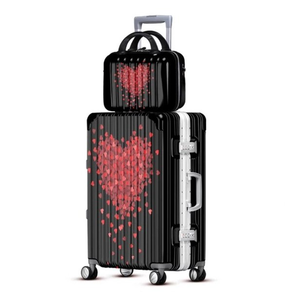 """PC luggage spinner wheels carry ons trolley suitcase men women boarding fashion bag 20""""24""""28"""" inch convenient trolley case"""