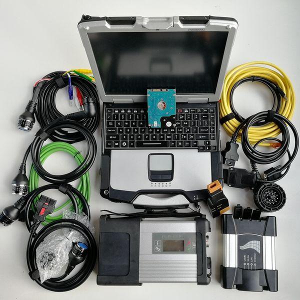 für BMW Icom nächster MB Stern C5 Sd schließen Sie C5 wifi Vertrag 4 1TB HDD V07.2019 Software benutztes Laptop CF-30 an