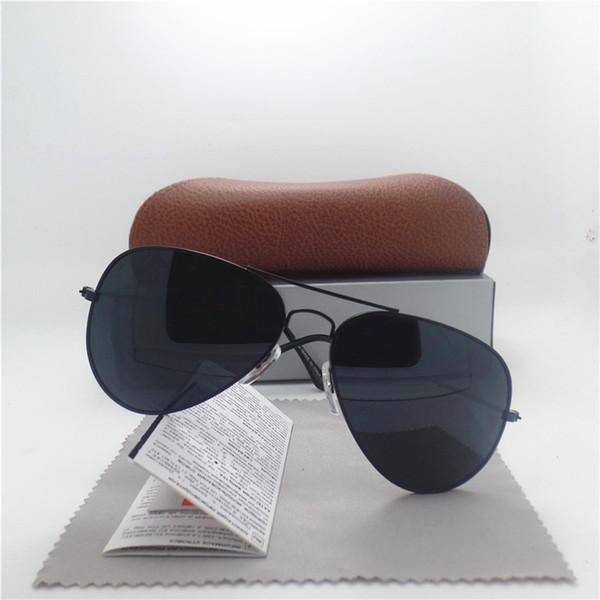 Erkekler ve kadınlar için new marka tasarımcısı moda ayna pilot güneş gözlüğü uv400 vintage spor güneş gözlükleri kutusu ile