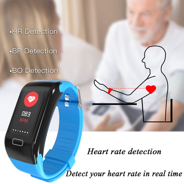 Bluetooth Watch Men Women Pedometer Smart Bracelet Fitness Activity Tracker Continuous Heart Rate Smartwatch Band Digital Watch