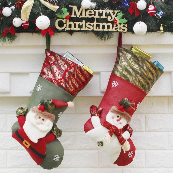 Hot Sale and Brand New Fashion Christmas Socks Christmas Supplies Gift Bag Scene Decorations Small Socks Gift Decorating Mall Party