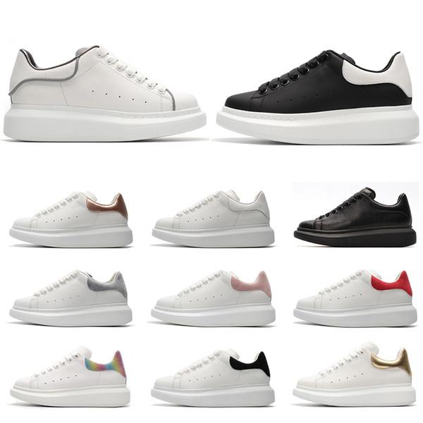 Alexander McQueen 2019 chaussures design de luxe en cuir baskets pour hommes, femmes, qualité supérieure, plateforme, chaussures à semelles épaisses, montant croissant