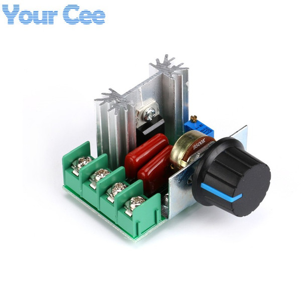 Freeshipping 10 pcs DIY Kit Parts AC 220V 2000W SCR Voltage Regulator Dimming Dimmers Speed Controller Thermostat Thermoregulation