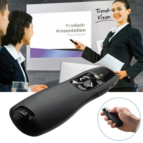 2.4Ghz Kablosuz Sunucu Kalem Verici Dahili USB Alıcı Handheld Uzaktan Kumanda PPT Sunum Öğretmen Yardımcısı için