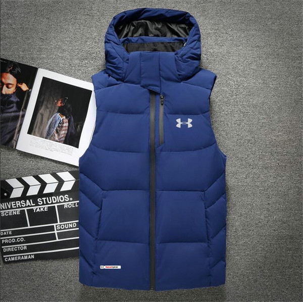 2f22 New Mens Jacket Sleeveless Vestmen s and the Winter Fashion Casual Coats Male Down Men s Vest Thickening Waistcoat Plus