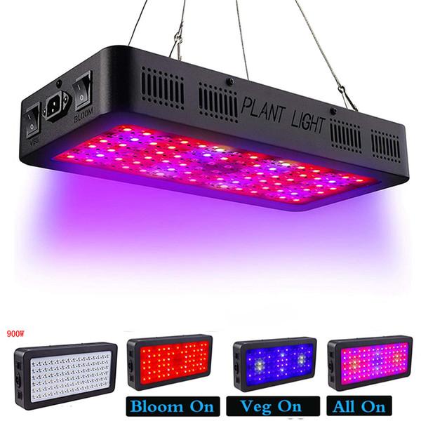 Full Spectrum LED coltivano la luce doppio interruttore 600W 900W coltivano la luce con i modi la fioritura di Veg per Greenhouse coperta crescere tenda ha portato 85-265V luce