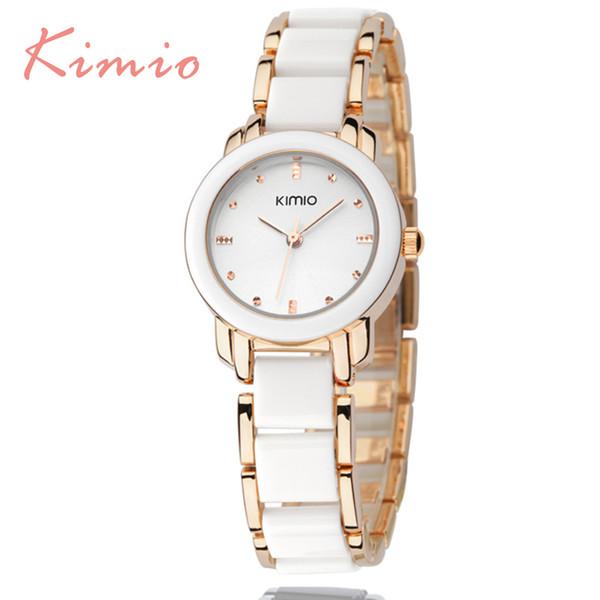 Kimio Luxus Mode Damenuhren Quarzuhr Armband Armbanduhren Edelstahl Armband Frauen Uhren mit Geschenkbox