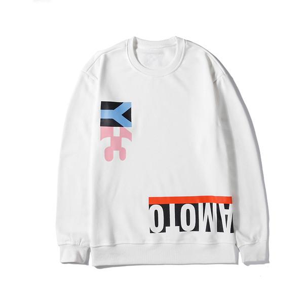 Marque Hommes Femmes Designer Sweat De Luxe À Manches Longues Pull Sport Casual Marque Top Qualité Casual 2019 Nouveau Blanc Noir B100008L