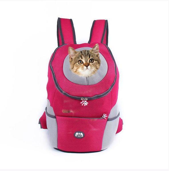 Estilo europeo Color Conveniente Respirable Cómodo Fuerte Cremallera Excursión Mochila para mascotas Regalo para mascotas Compras libres