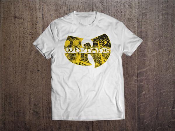 Wu-Tang Clan Men White T-shirt Hip Hop Fan Gift Tee Rap ShirtMen Women Unisex Fashion tshirt Free Shipping