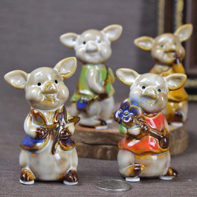Originalidade de decoração para casa artesanato de cerâmica decoração do quarto das Crianças porco rico para o zodíaco presente ornamento da mesa de escritório