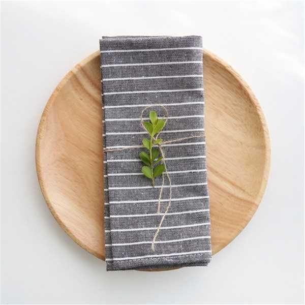 2pcs cibo riprese sfondo cotone e lino tovagliolo di stoffa in stile giapponese foto puntelli di cottura occidentale a strisce asciugamano da tè, tovaglietta