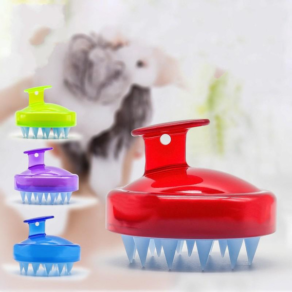 Adult Shampoo Brush Scrub Wash Hair Comb Silicone Massager Blue Green Comfort Beauty Tools Factory Direct Sales