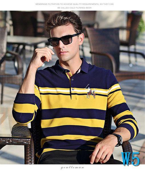 De lujo del diseñador del Mens Polos de marca Casual Camisetas polo para hombre camisas de las camisetas Otoño 10 suéter caliente vestir de las tapas 3 colores opcionales M-3XLW5