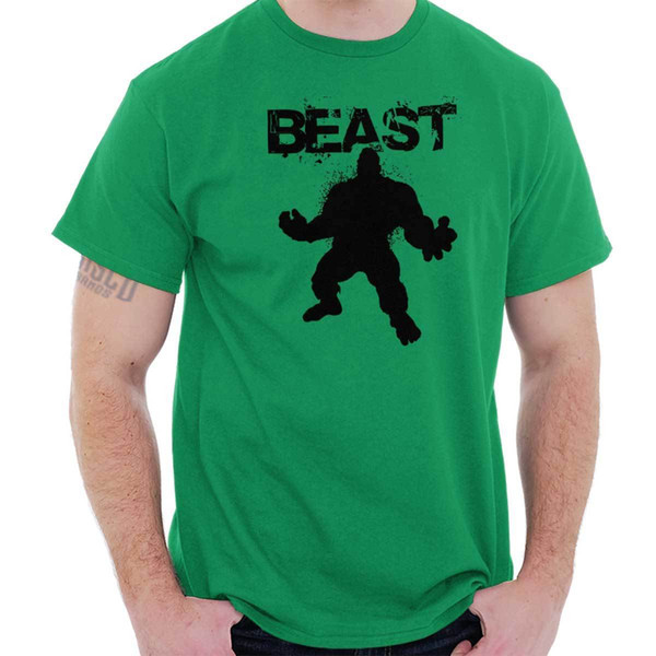 Beast Hulk 24 Bodybuilding Mode Gym Workout Clutch Gift Cool T Shirt Funny free shipping Unisex Casual Tshirt