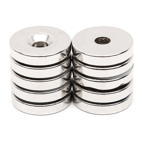 10pcs 24.3mm x 4.7mm N52 Magnet with Bore Rare Earth NdFeB Neodymium Permanent Magnet Very Powerful Acoustic Field Speaker