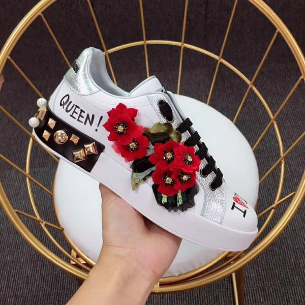 Высокое качество DOLCE мужская дизайнерская обувь Габбана Портофино кроссовки с па