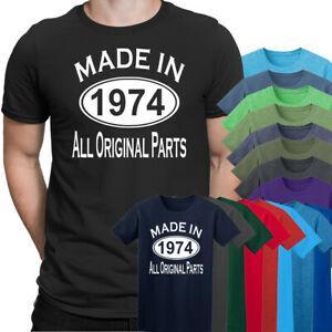 1974 yılında Yapılan Tüm Orijinal Parçalar 45Th Doğum Günü Hediye Mevcut Erkek T Shirt