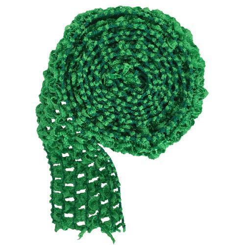 녹색 머리띠 손질
