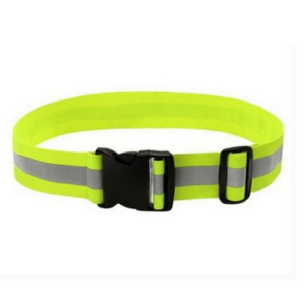 1Pc New Reflective Elastic Waist Bags Belt Support Adjustable Safety Waist Belt Night Running Walking Cycling