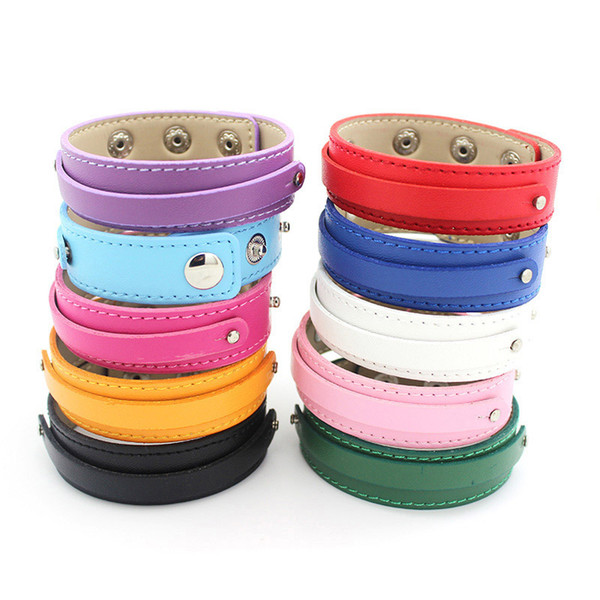 10PCS 18+8MM PU Leather Wristband Bracelets (10 pieces/lot) DIY Accessory Fit Slide Letter LSBR037