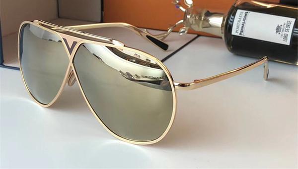 Luxury 0026 Occhiali da sole per unisex Fashion Brand Design ovale Protezione UV Lenti a specchio Lenti a specchio Colore placcato telaio Vieni con il pacchetto