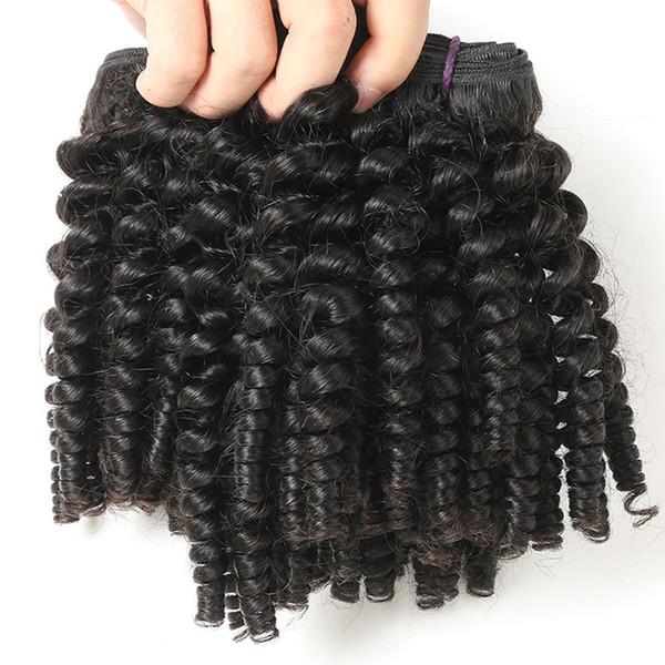 9A Indien Vierge Funmi Cheveux 3 Faisceaux Spirale Curl Faisceaux De Cheveux À Court Bouclés Armure Non Transformés Brésiliens Extensions de Cheveux Humains
