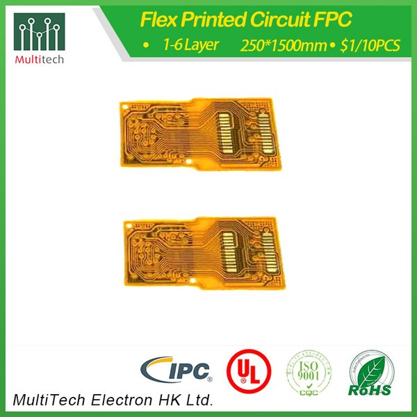 1 katmanlı ENIG PNPC üreticisi tarafından Çin Multitech PCB fabrikadan nakliye adet başına FPC 0.05USD bitmiş fabrika