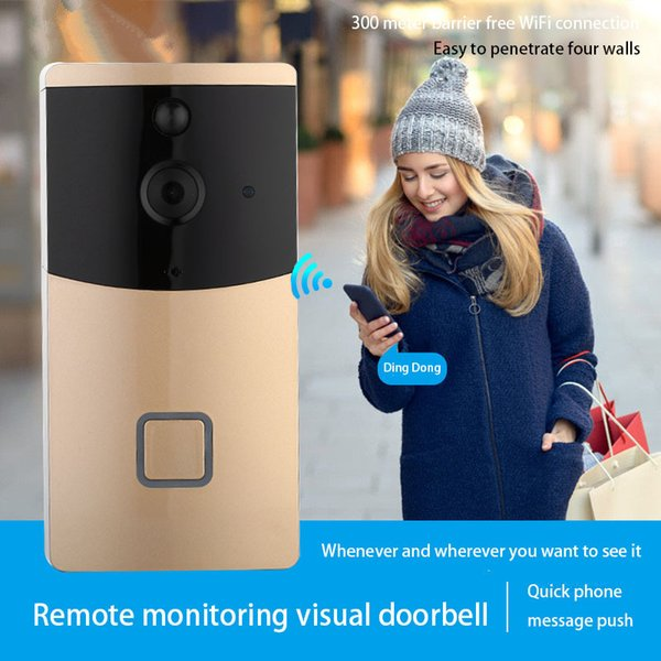 Best ding dong home villa Wifi Wireless Visual Intercom Smart HD camera night vision Video Doorbell For Home Security with voice call