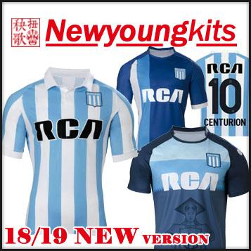 2018 19 Racing Club Camiseta De Fútbol 18 19 Racing De Avellaneda De ... fd9b0da8eb757
