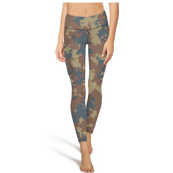 Camuflagem camo exército cintura alta calças de yoga das mulheres ginásio yoga calças elásticas calças justas do desenhista legal leggings preto