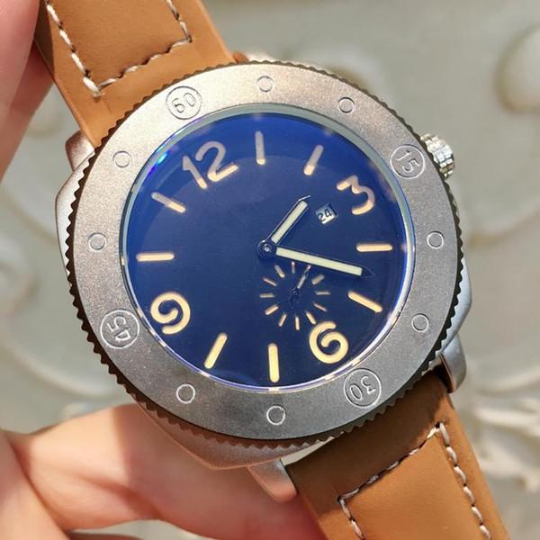 Homem de luxo Relógios De Couro Com Data Big Dial Vestido Assista Clássico Relógio de Quartzo Cor Preta Esporte Relógios de Pulso Relojes Para Masculino Venda Quente