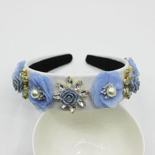 new vintage baroque tiara crown red flower headband luxury queen headdress wedding hair accessories bride hair jewelry1020