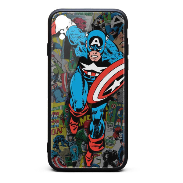 Marvel Comic Book Captain America Covers Collage iphone XR cases cool personalised case hard top case printted popular scratch-resistant c