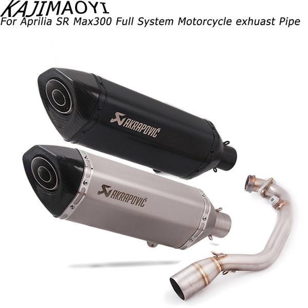 Di scarico per moto tubo del sistema completo per Aprilia SA Max 300 250 SAMax300 SAMax250 con scarico