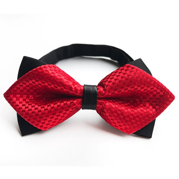 Red Bow Tie Мужская одежда Аксессуары Сплошной цвет Gentleman рубашка шеи галстук Bowknot Dot Bowties