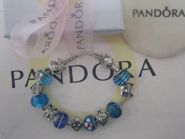 SALE 2018 New Pandora 925 Charm Sterling Silver Beads Braceles with box free shipping