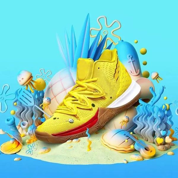 Новый Kyrie Губка Боб Мужчины Баскетбольные кроссовки 5 Кроссовки Irving ROKIT Little Mountain Ore