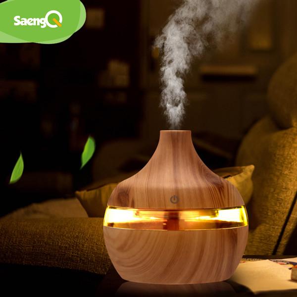 saengQ Essential воздуха Диффузор Ультразвуковой холодный туман USB Увлажнитель очиститель воздуха 7 Изменение цвета светодиодные Night свет для офиса