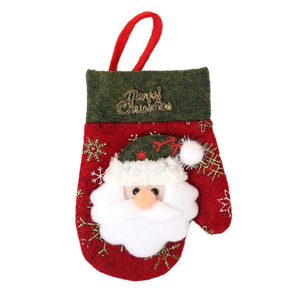Christmas Knife Fork Glove Bag Cover Santa Claus Elk Pattern Home Kitchen Dinner