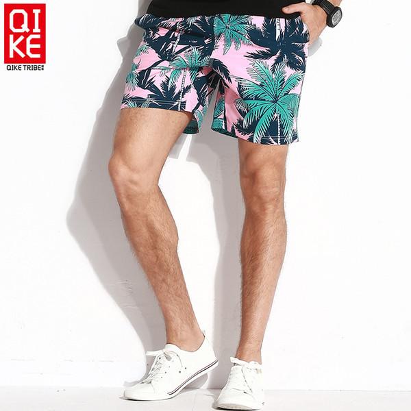 Nova explosão de produtos de secagem rápida calças praia para casais modernos, confortáveis e soltas calças de cinco centavos dos homens Forro Belt
