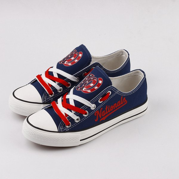 New Arrival Washington Team Fans Printed Canvas Shoes Customize American Men Casual Flats Lace-up Espadrilles Chaussures