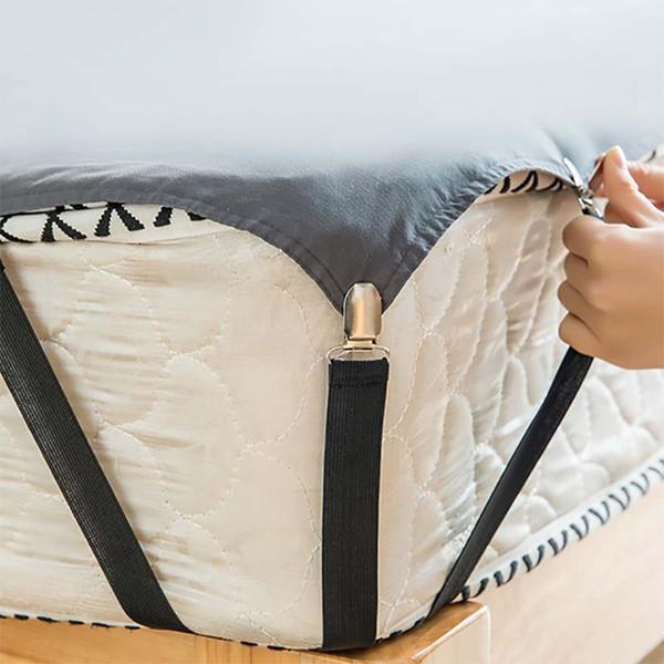 4pcs lenzuolo clip orientabile Scheda Elastic Buckle materasso di presa Holder Fastener clip Bedding bretella cinghie 6 colori