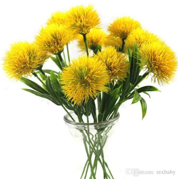 EW flores artificiais dandelion flor de plástico decoração da casa de casamento dia dos namorados decoração comprimento 25 cm