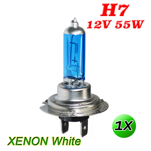 2019 2X H7 55W Car Halogen Headlight Bulbs Car Light Bulb HeadLamp Car  Front Lights Warm White 6300K DC12V Super Bright High Brightness From